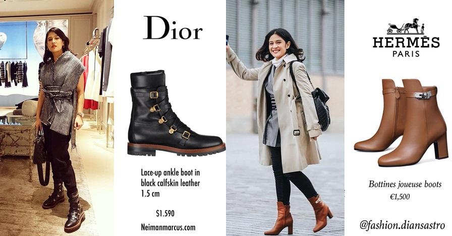 Harga 7 sepatu boots Dian Sastro ini fantastis, capai Rp 25 juta