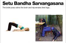 10 Cocoklogi gerakan yoga dan pose orang mabuk, bikin tepuk jidat