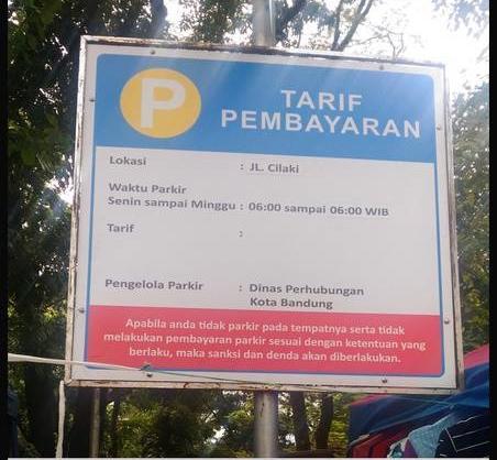 pengumuman tempat parkir © 2019 berbagai sumber