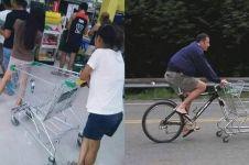 10 Kelakuan absurd orang malas pergi belanja, bikin tepuk jidat