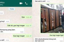 10 Chat lucu nggak mau diajak jalan, alasannya bikin gagal paham