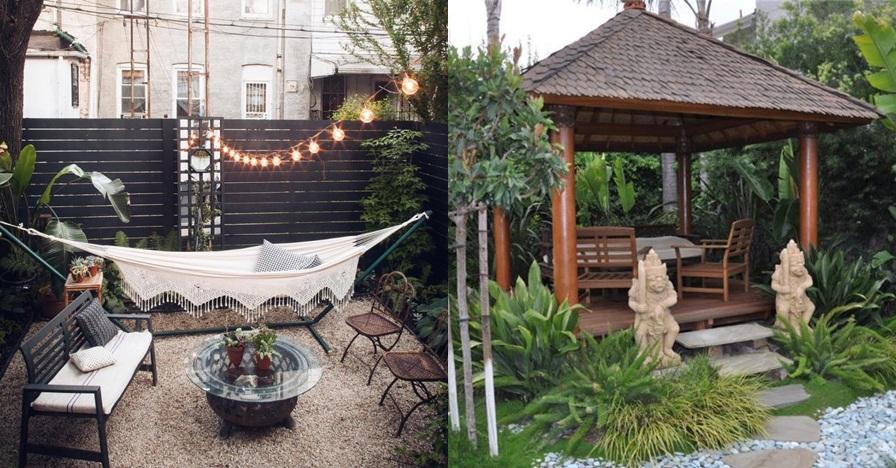 15 Inspirasi taman belakang rumah ini asri dan cozy