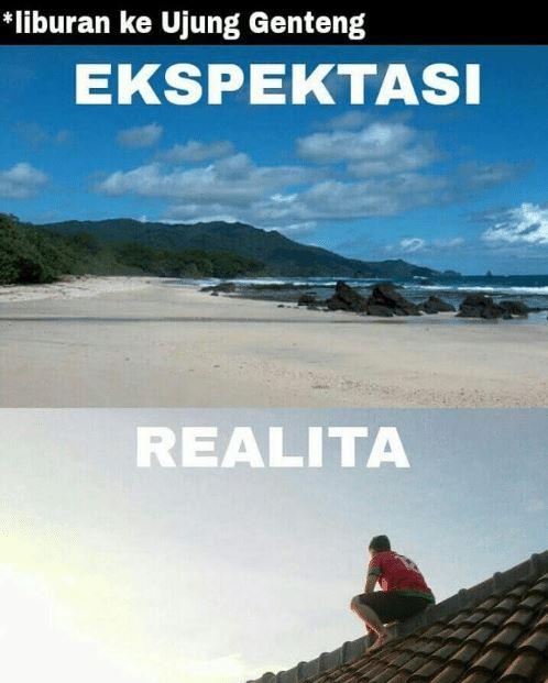 meme ekspektasi realita liburan © berbagai sumber