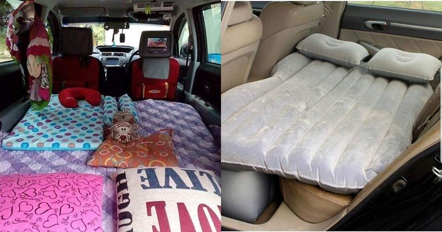 7 Inspirasi bikin 'kamar' di mobil saat mudik, nyaman bawa anak kecil