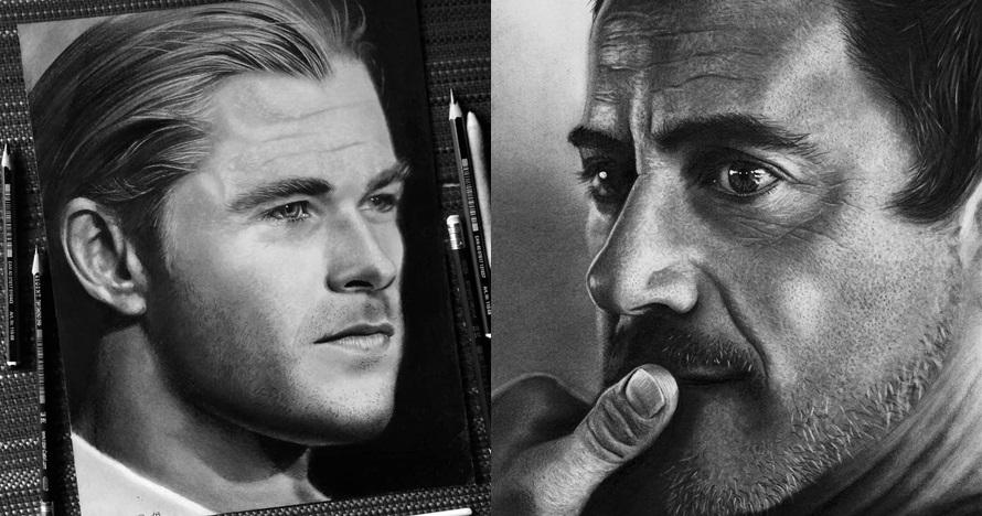 Hanya gunakan pensil, 10 lukisan tokoh terkenal ini mirip aslinya