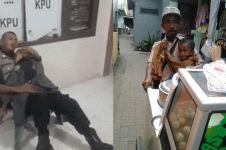 10 Potret perjuangan ayah bawa anak sambil kerja ini bikin mewek