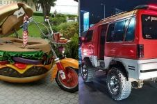 11 Bentuk kendaraan hasil modifikasi ini bikin heran
