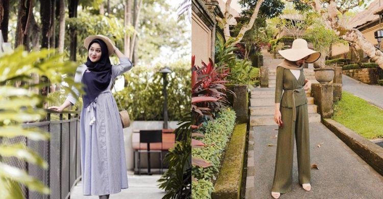 15 Inspirasi outfit liburan hijab Dian Pelangi, kasual nan stylish