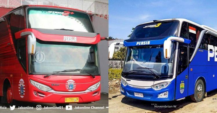 Begini penampakan bus milik 7 klub sepak bola Indonesia