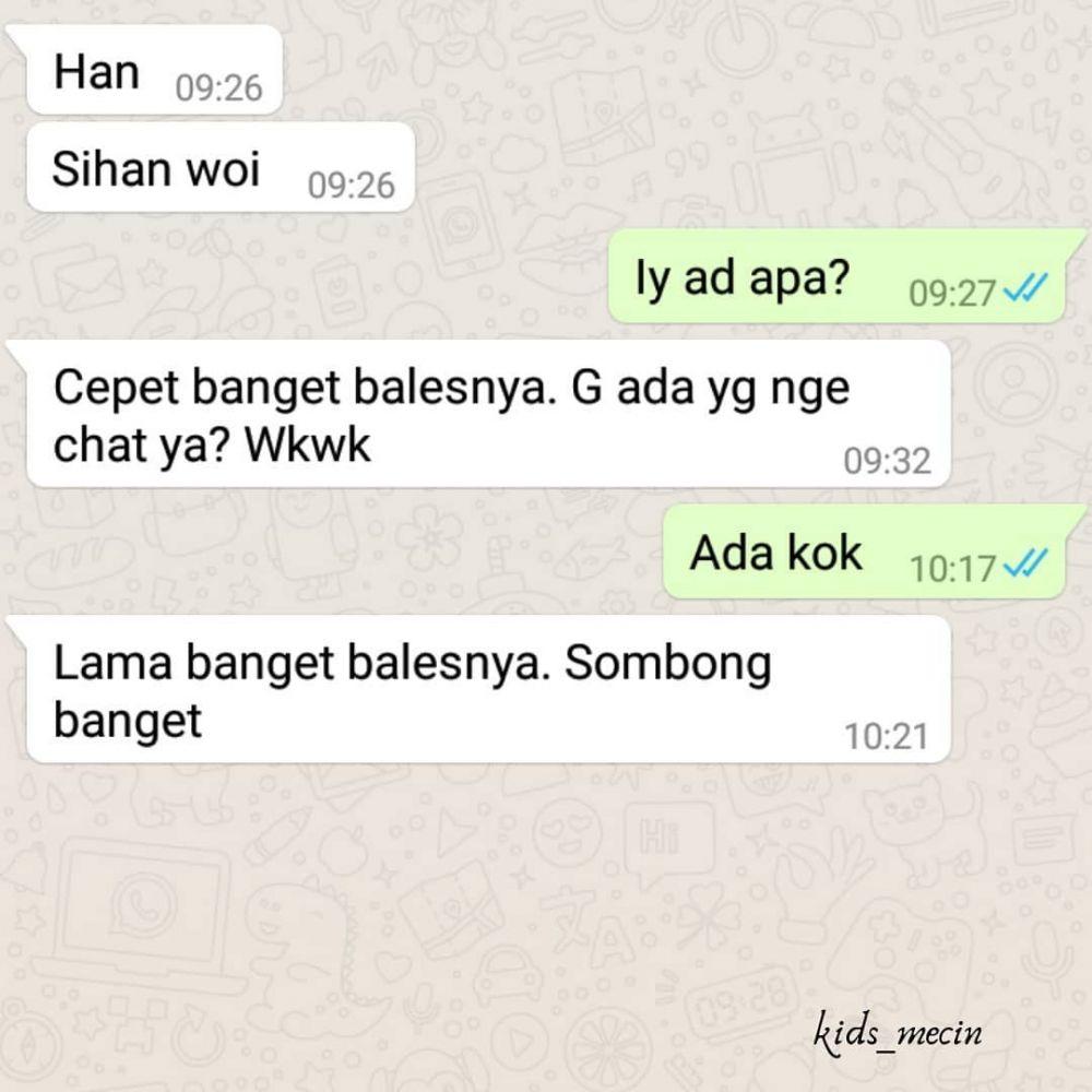 chat balas ejekan © 2019 berbagai sumber