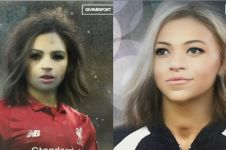 15 Pesepak bola pakai filter Snapchat gender swap, manglingi