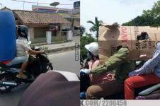 12 Kelakuan pengendara motor tak pakai helm ini bikin auto ngakak