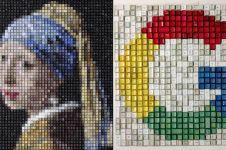 Kreatif abis, 10 lukisan ini dibuat dari tombol keyboard bekas
