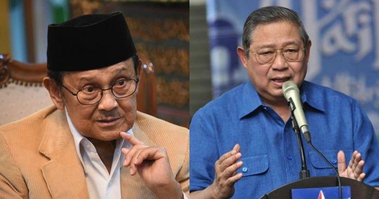Potret haru SBY dan BJ Habibie saat kehilangan istri tercinta