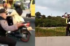 5 Aksi lucu polisi atur lalu lintas ini bikin mudik makin asik