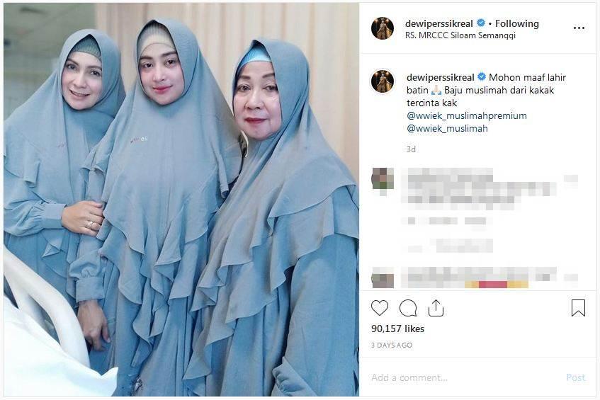 kondisi ayah Dewi Perssik © 2019 Instagram