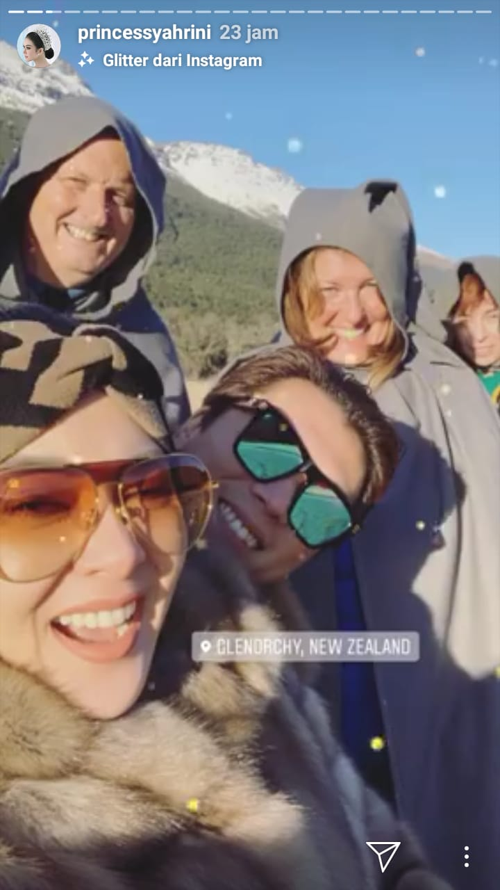 Syahrini dan Reino New Zeland instagram
