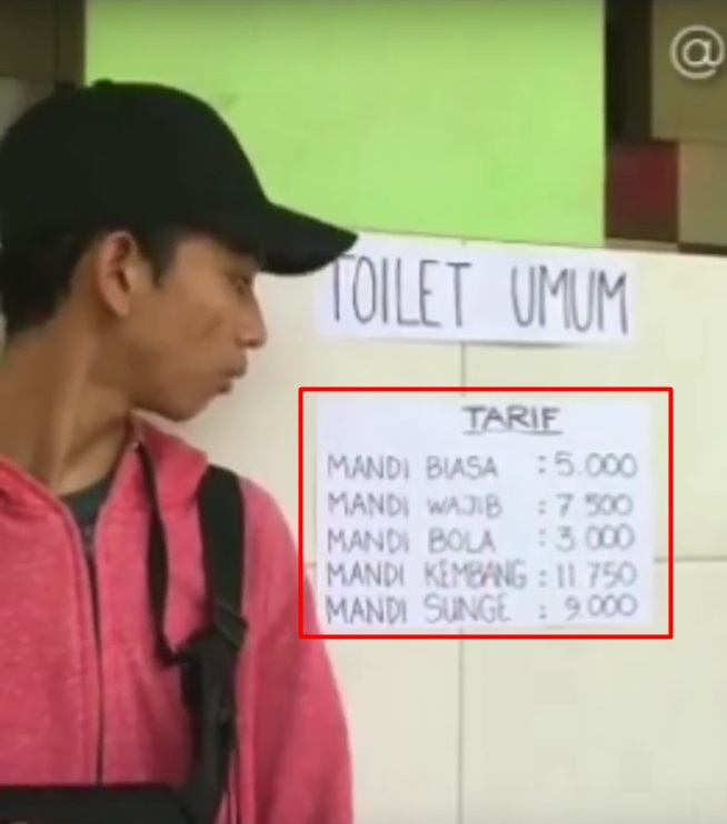 pengumuman tarif toilet bikin mikir keras © berbagai sumber