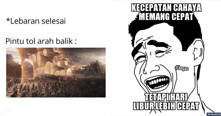 11 Meme lucu Lebaran telah usai ini bikin auto cengar cengir