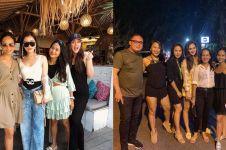 7 Momen Luna Maya liburan bareng keluarga Faisal Nasimuddin di Bali