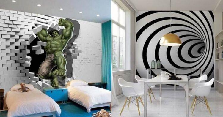 10 Desain mural dinding 3D ini bikin suasana rumah jadi ...