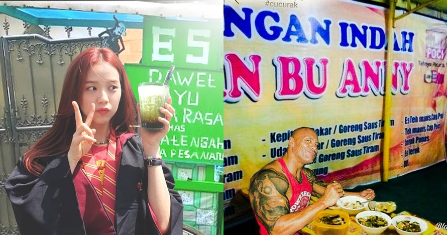 10 Foto editan lucu seleb dunia lagi jajan makanan Indonesia