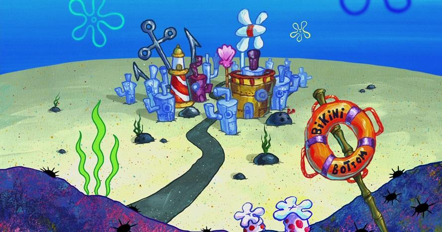 Ilustrasi alasan rumah SpongeBob susah ketemu di dunia nyata, kocak