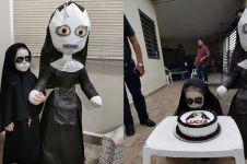 Viral pesta ulang tahun anak bertema Valak, kostumnya horor pol