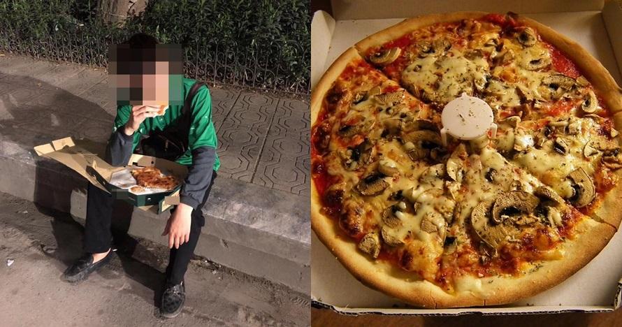 potret driver makan pizza cancel orderan © Facebook/eris1011