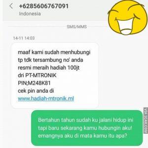 11 Balasan SMS ngerjain penipu ini bikin tersenyum simpul