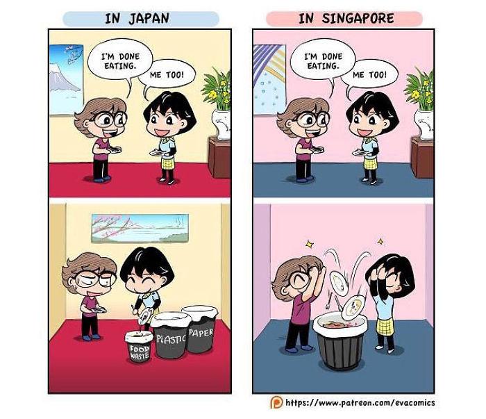 ilustrasi jepang vs negara lain © Instagram/@evacomics