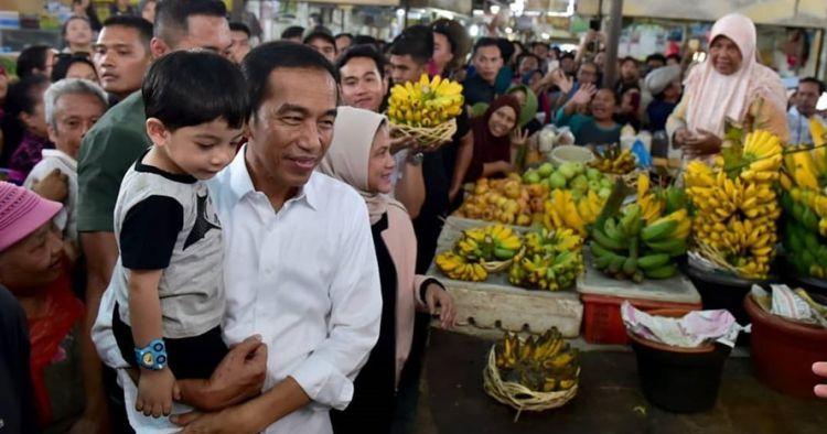 Momen hangat Jokowi temani Jan Ethes bermain di sawah
