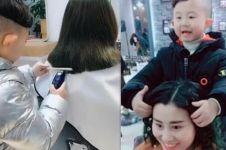 Viral, bocah 6 tahun ini terkenal karena jadi hair stylist sukses