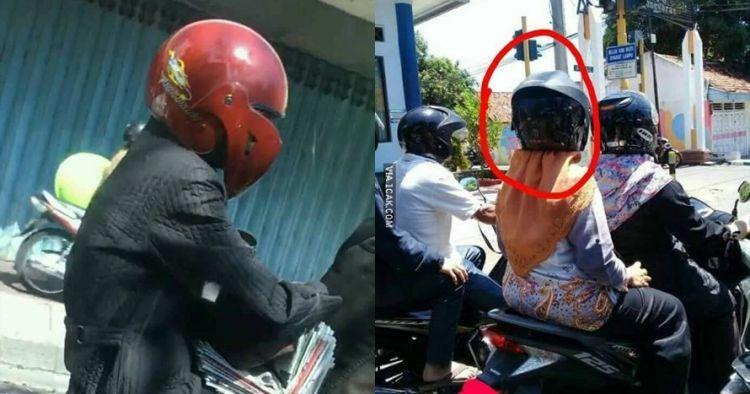 11 Momen absurd waktu pakai helm ini bikin nyengir sampai tujuan