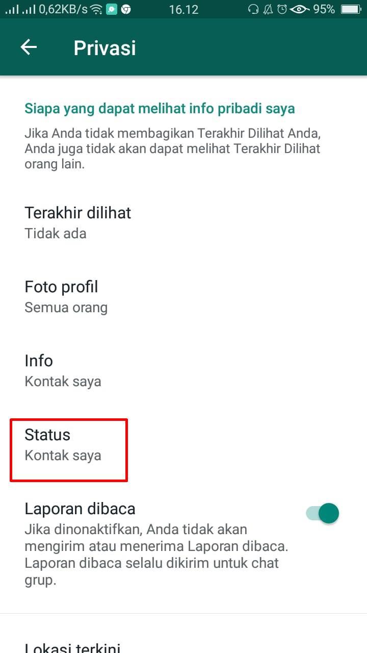 Cara Menyembunyikan Status Whatsapp Dari Orang Lain