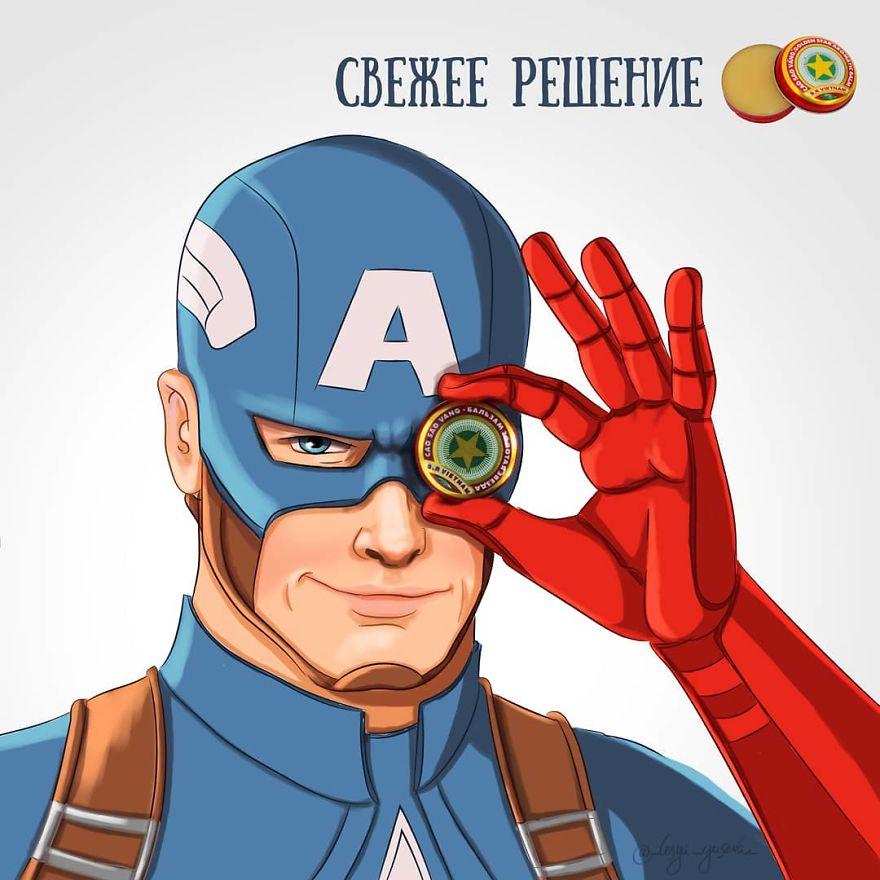 superhero poster iklan © Instagram/@_lesya_guseva_