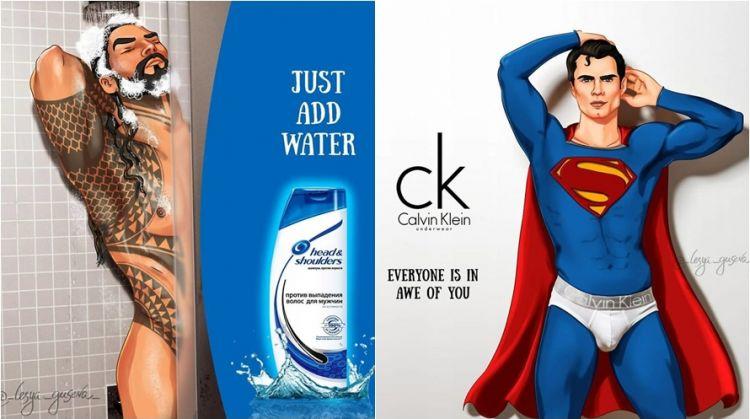 9 Ilustrasi andai superhero jadi bintang iklan ini kocak banget