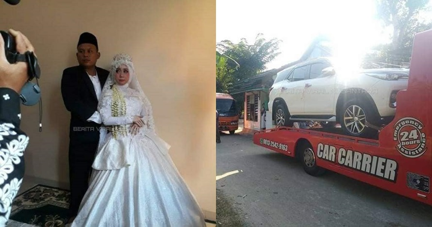 Viral penjual bakso menikah dengan mahar motor dan mobil mewah