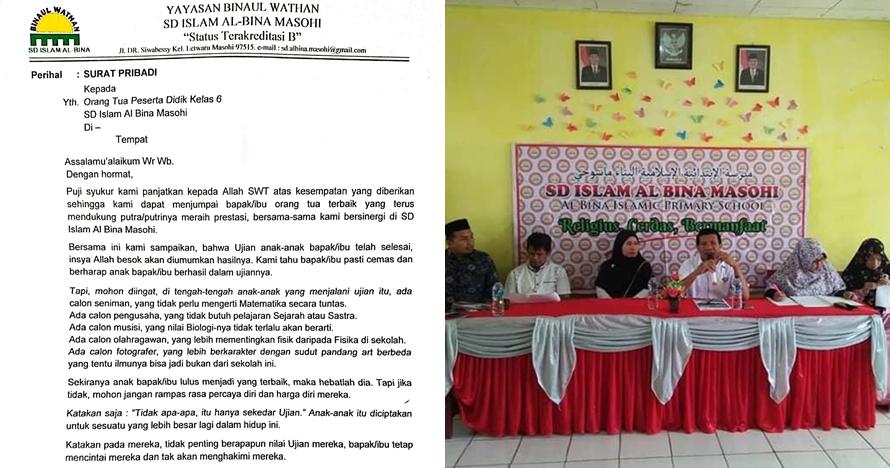 Kisah SD di Maluku kirim surat soal kelulusan ke ortu siswa, menyentuh