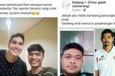 7 Kelakuan driver ojek online ngaku kembaran artis, pede abis nih