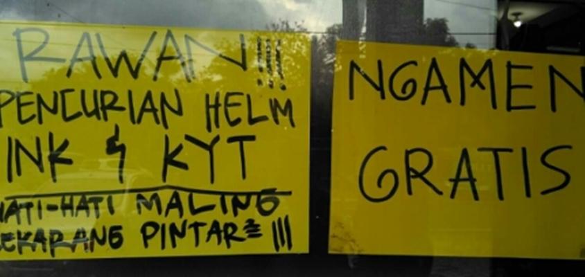 peringatan helm hilang © 2019 brilio.net