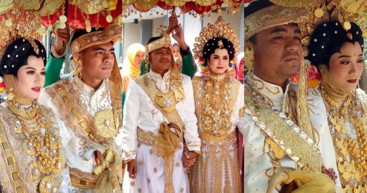 Viral tiga bersaudara kembar nikah bersamaan, pelaminannya heboh