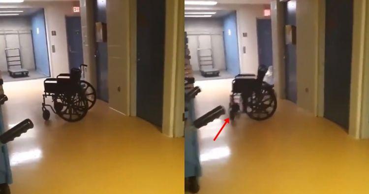 Viral video kursi roda rumah sakit bergerak sendiri, nyeremin abis