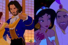 9 Ilustrasi kartun ini gambarkan Keanu Reeves jadi pangeran Disney