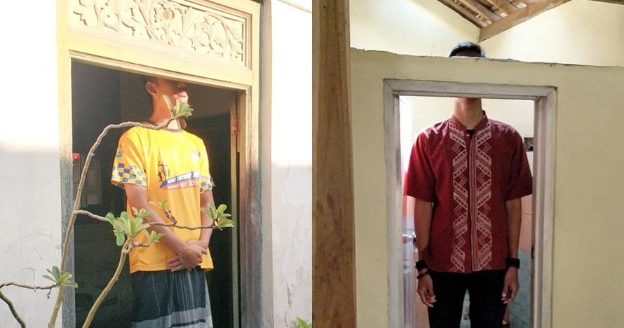 10 Foto aktivitas pria berpostur tinggi di rumah, bikin tepuk jidat