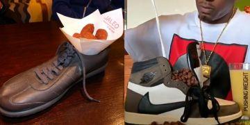 10 Cara penyajian makanan di sepatu ini bikin auto hilang selera