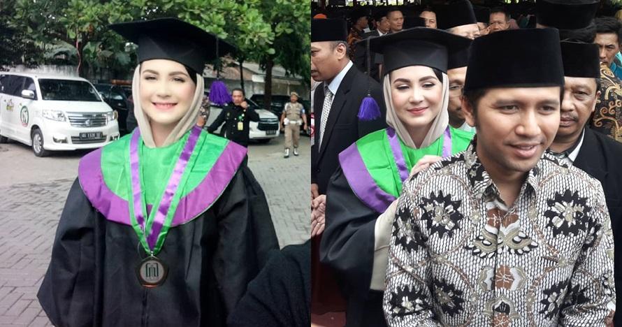 6 Momen kebahagiaan wisuda Arumi Bachsin, lulus dengan IPK 3,4