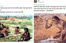 10 Cuitan lucu jika manusia purba kenal media sosial ini kocak