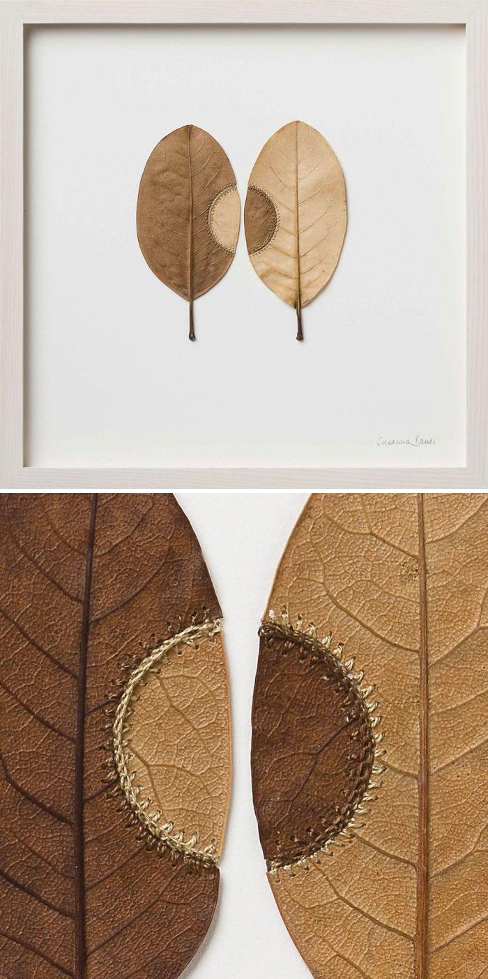 karya sulam daun kering © 2019 brilio.net