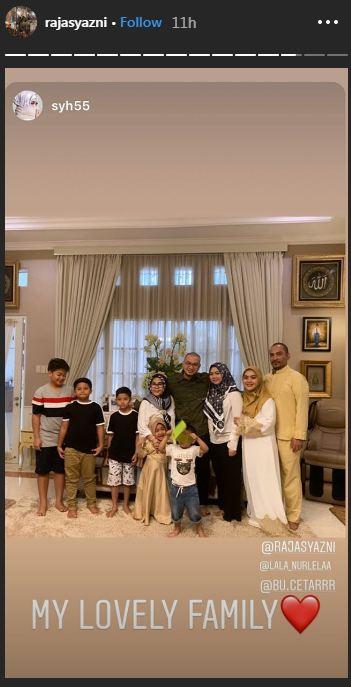 bubu dan keluarga syahrini © Instagram/@rajasyazni